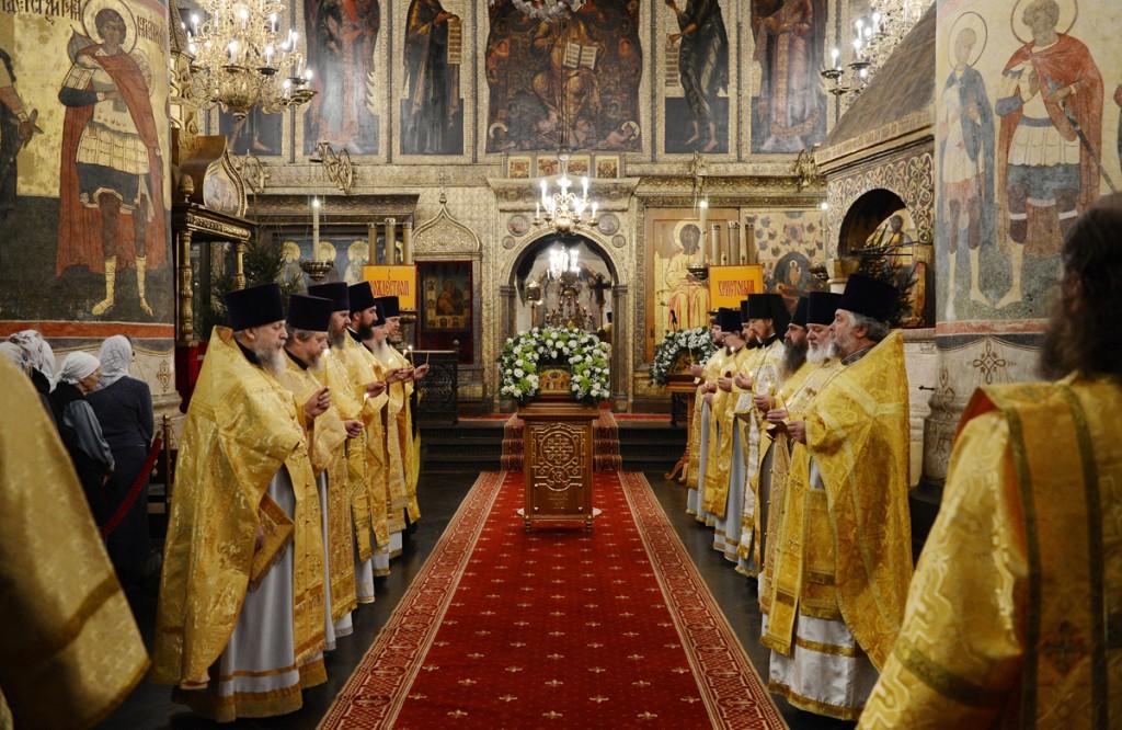 Праздник Собора Пресвятой Богородицы в Успенском соборе
