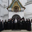 Святейший Патриарх Кирилл помолился в Новоспасском монастыре