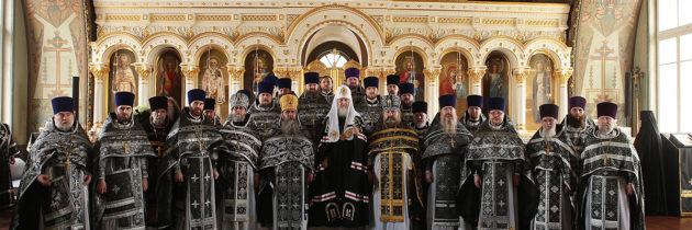 Святейший Патриарх возвел благочинного в сан архимандрита