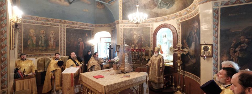 Литургия в Престольный праздник благочиния