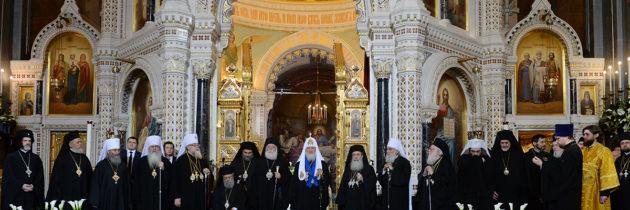 Торжественная литургия в день 70-я Святейшего Патриарха Кирилла