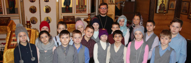 Экскурсия детей школы №2088 в храм на Волжском