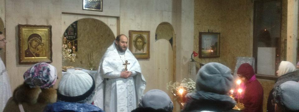 В Рождество состоялась первая литургия в храме в Грайворонове