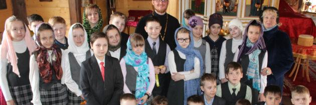 Дети 4-х классов посетили храм св. Андрея Боголюбского на Волжском