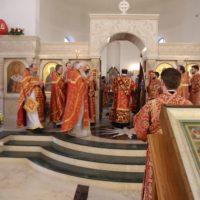 Викарий совершил Пасхальную литургию с настоятелями викариатства