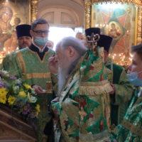 Митрополит Ювеналий возглавил богослужения в праздник Святой Троицы