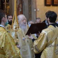 Богослужение в день тезоименитства митрополита Ювеналия