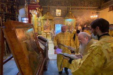 В Петропавловском храме освящён список с Иерусалимскойиконы